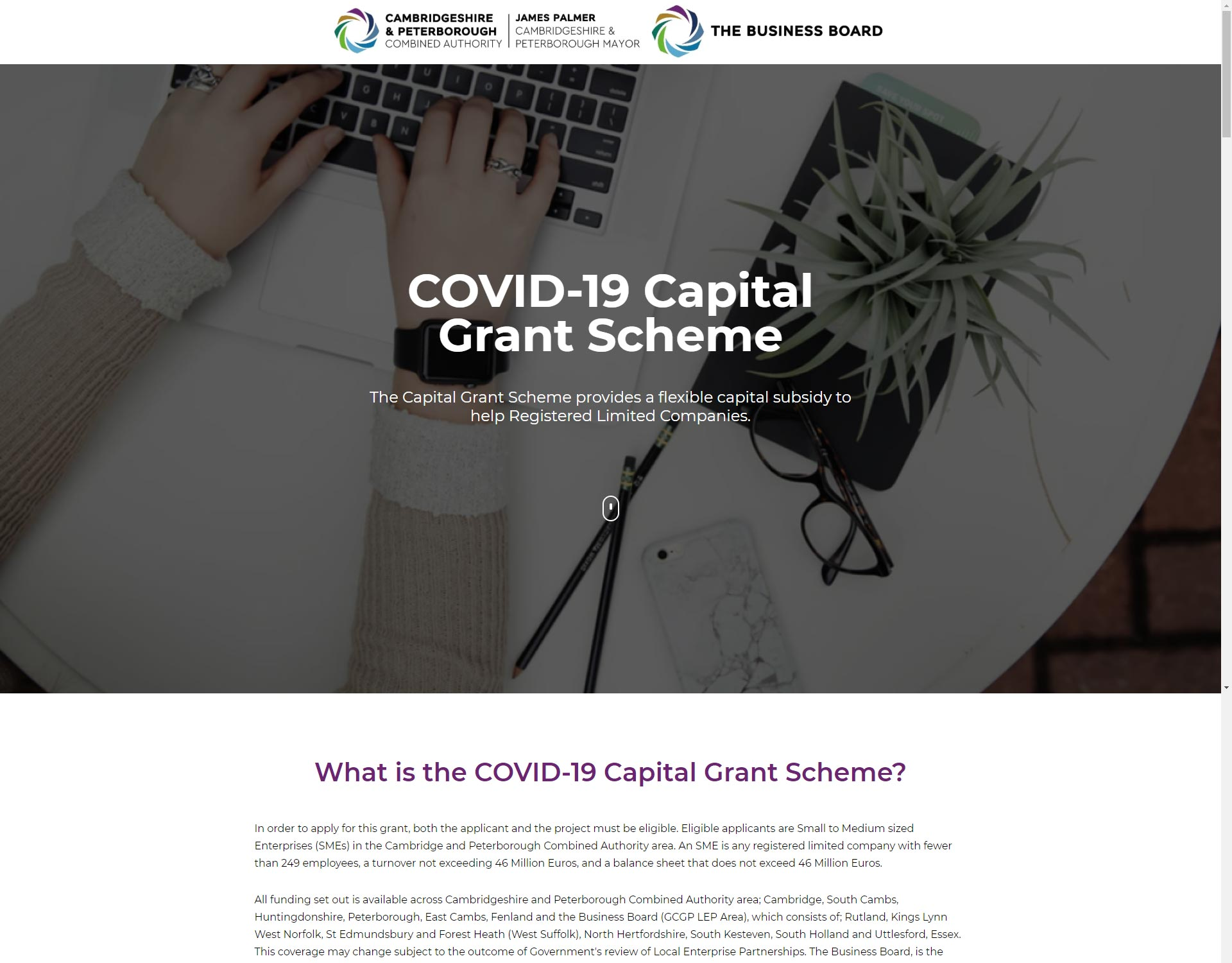COVID-19-Capital-Grant-Scheme-Screenshot-Lead-Genera