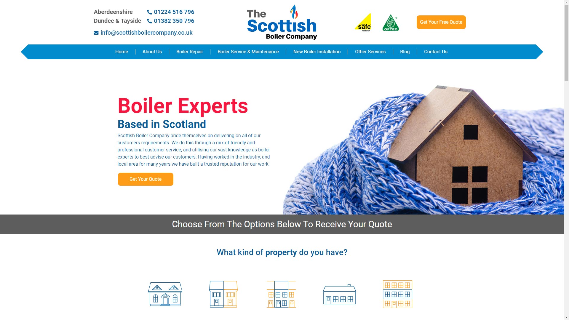 Scottish-Boiler-Company-Screenshot-Lead-Genera