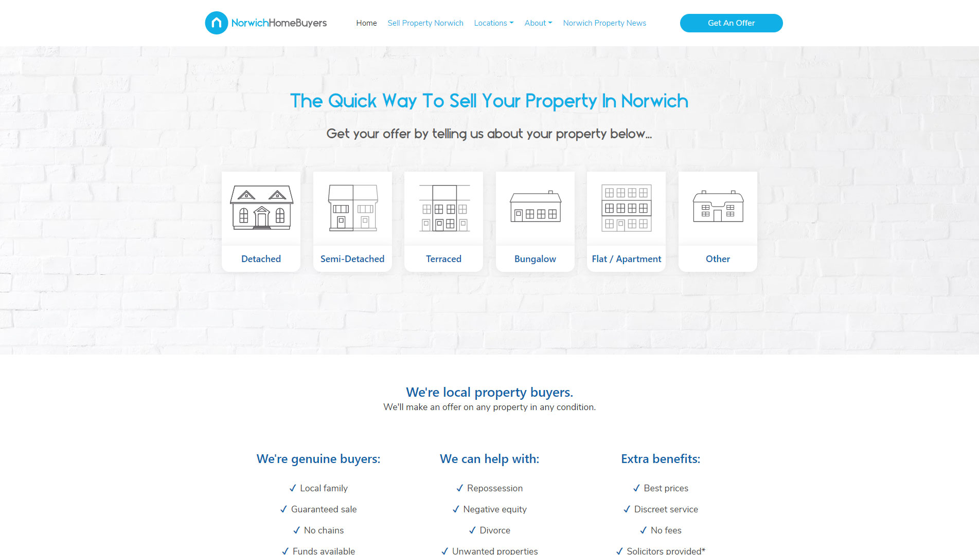 Norwich Home Buyers website development and design